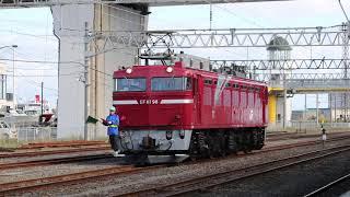 青い森鉄道 EF81形 9011レ「カシオペア紀行」 青森駅入換 2018年10月13日
