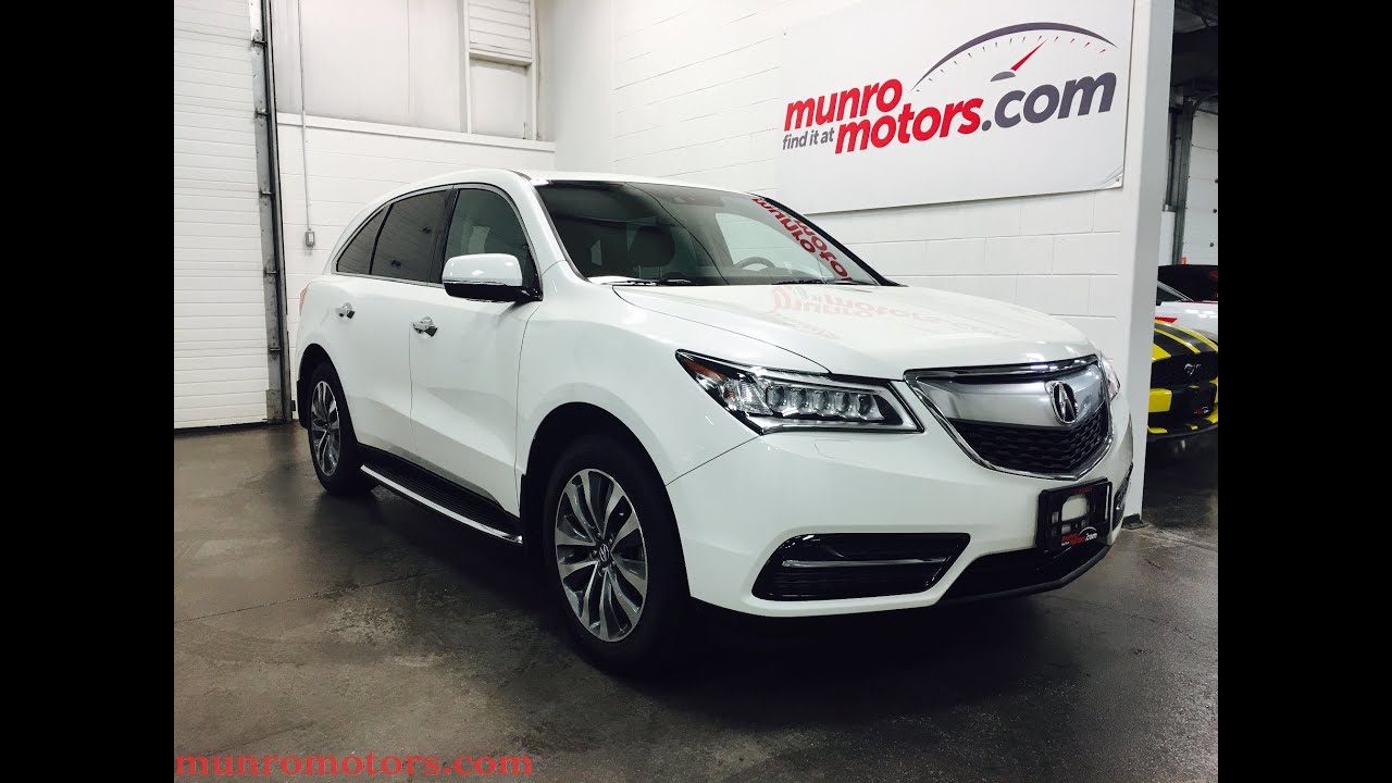 2014 acura mdx platinum white nav pkg sh awd sold munro. Black Bedroom Furniture Sets. Home Design Ideas