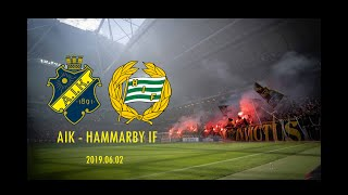 AIK  - Hammarby IF 2-0 (2019.06.02) Derby, Protest, Tifo