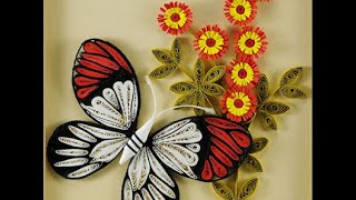 DIY: how to make butterfly with quilling paper