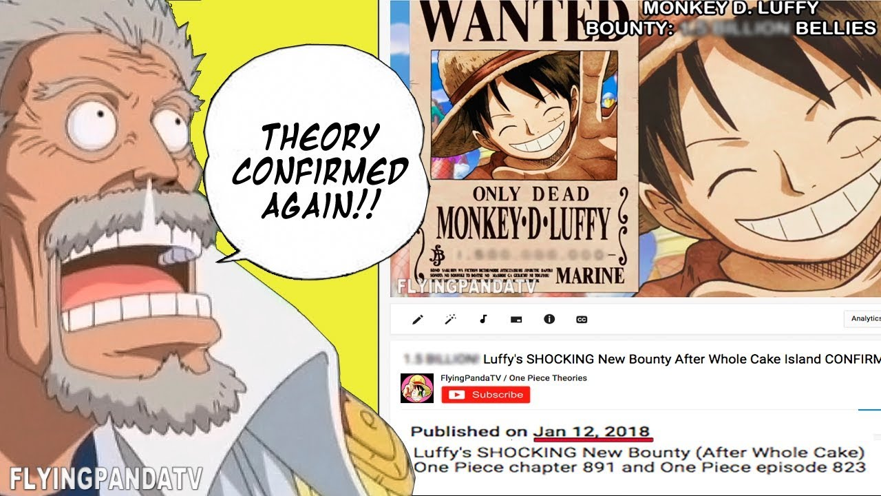Is he really strong enough to live upto that bounty? 1 5 Billion Luffy S Shocking New Bounty After Whole Cake Island Confirmed One Piece Ch 891 Youtube