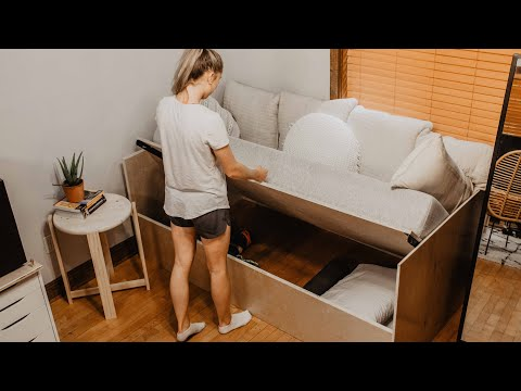 DIY Sofa Bed with Storage!