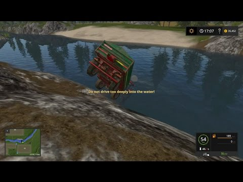 Farming Simulator 17 - #2 Railway Transport and Tractor in Water - Gameplay