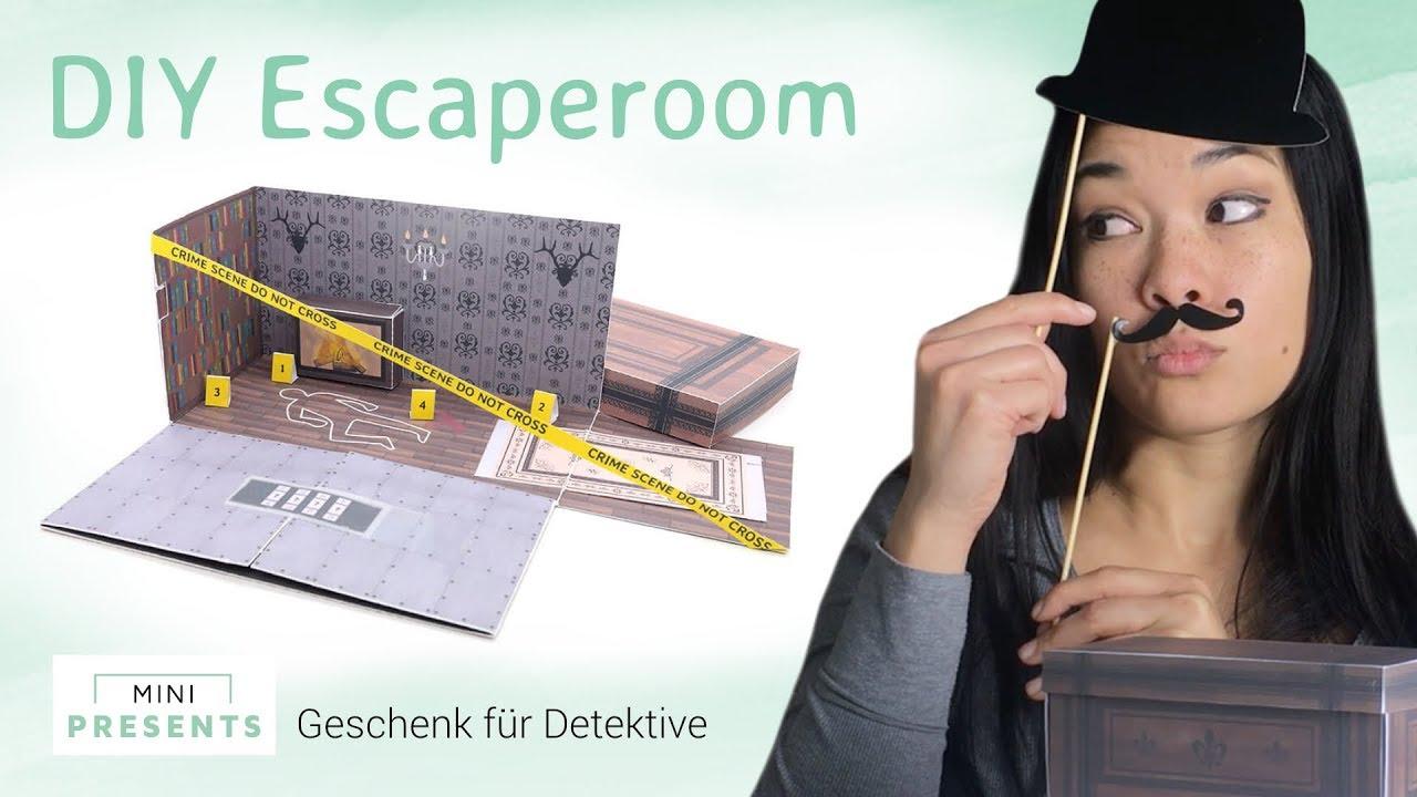 Diy Escape Room Geschenk Zum Geburtstag Explosionsbox Basteln Als Geschenkidee Mini Presentscom