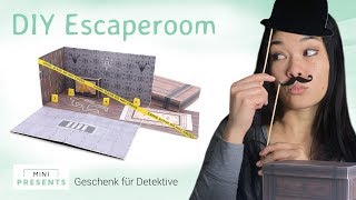 DIY Escape Room Geschenk zum Geburtstag | Bastelanleitung Geschenkidee | mini-presents.com
