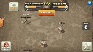 THE WEIRDEST WAR ATTACK STRATEGY EVER!!! - clash of clans th11 3* war attacks