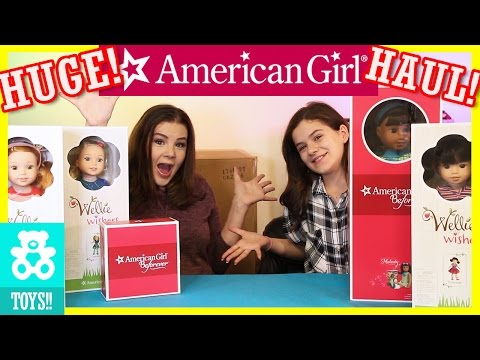 HUGE SURPRISE AMERICAN GIRL DOLL BOX HAUL! Wellie Wishers Melody, House, and Studio! | KITTIESMAMA