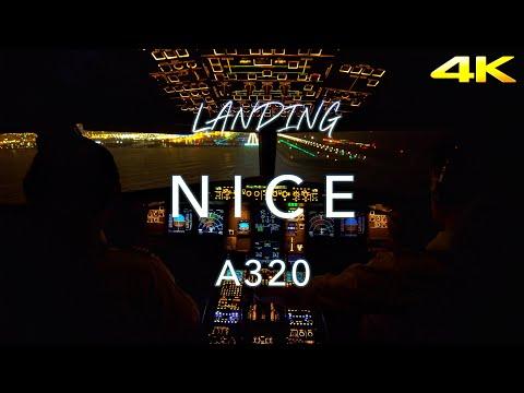 Landing Nice   A320 Cockpit View 4K