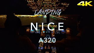 Landing Nice | A320 Cockpit View 4K