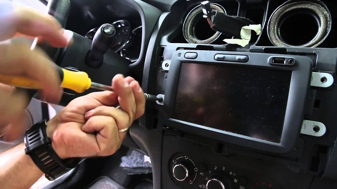 How To Remove Rear View Mirror >> Dacia Sandero Rear View Cam Installation - YouTube