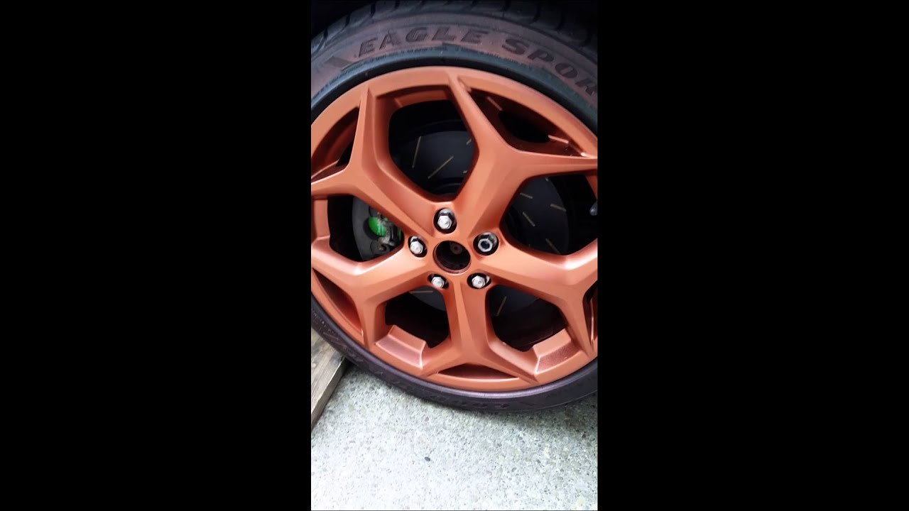 Burnt Orange Plasti Dip On Wheels On Ford Focus St Youtube