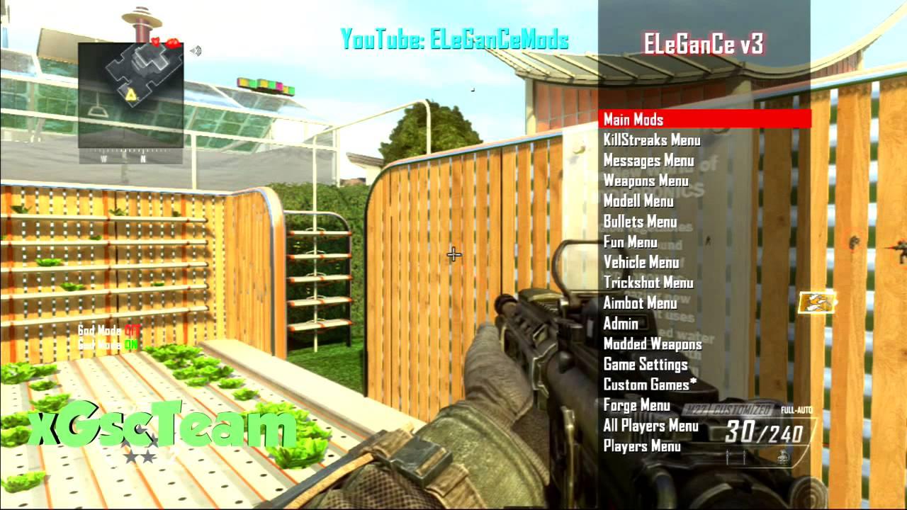 Bo2119 ELeGanCe V3 GSC Mod Menu Xbox 360Ps3 With