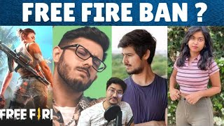Free Fire BAN in India ? | Carryminati React on Thara Bhai Joginder Roast,Dhruv Rathee Angry