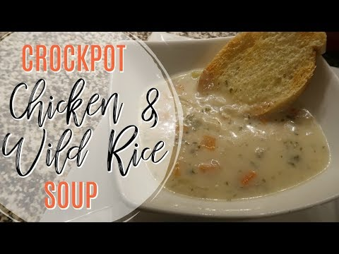 CROCKPOT CHICKEN WILD RICE SOUP | Cook Clean And Repeat