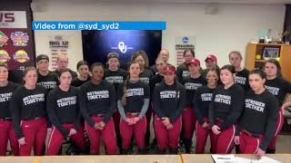 OU Softball team reaches out to Konawa softball team