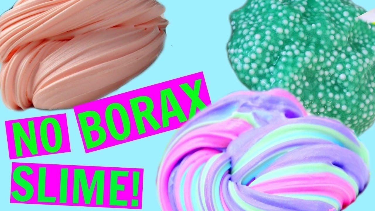 3 WAYS TO MAKE SLIME WITHOUT BORAX! How To Make Slime ...