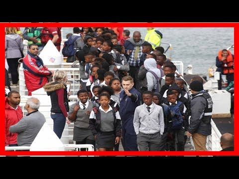 In pictures   robben island tourists rescued after storm-tossed table bay   Africa Latest News