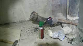 Демонтаж канализационного отвода