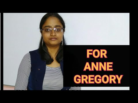 FOR ANNE GREGORY by WILLIAM BUTLER YEATS | EXPLAINED IN HINDI |