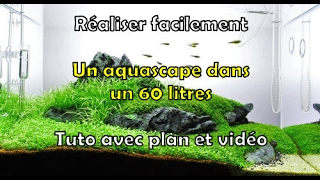 Aquarium collines aquascape  60 litres