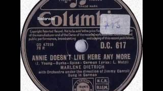 Ach, Fräulein Annie wohnt schon lange nicht mehr hier   Marlene