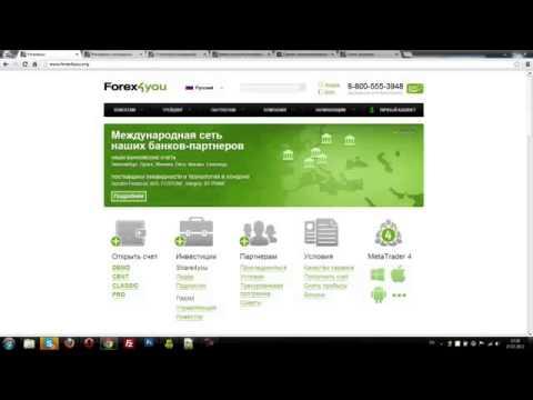 Партнерская программа Forex4You  Заработок в интернете без вложений