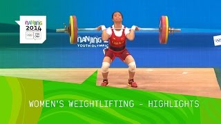 Jiang Huihua Wins 48kg Weightlifting Gold - Highlights | Nanjing 2014 Youth Olympic Games