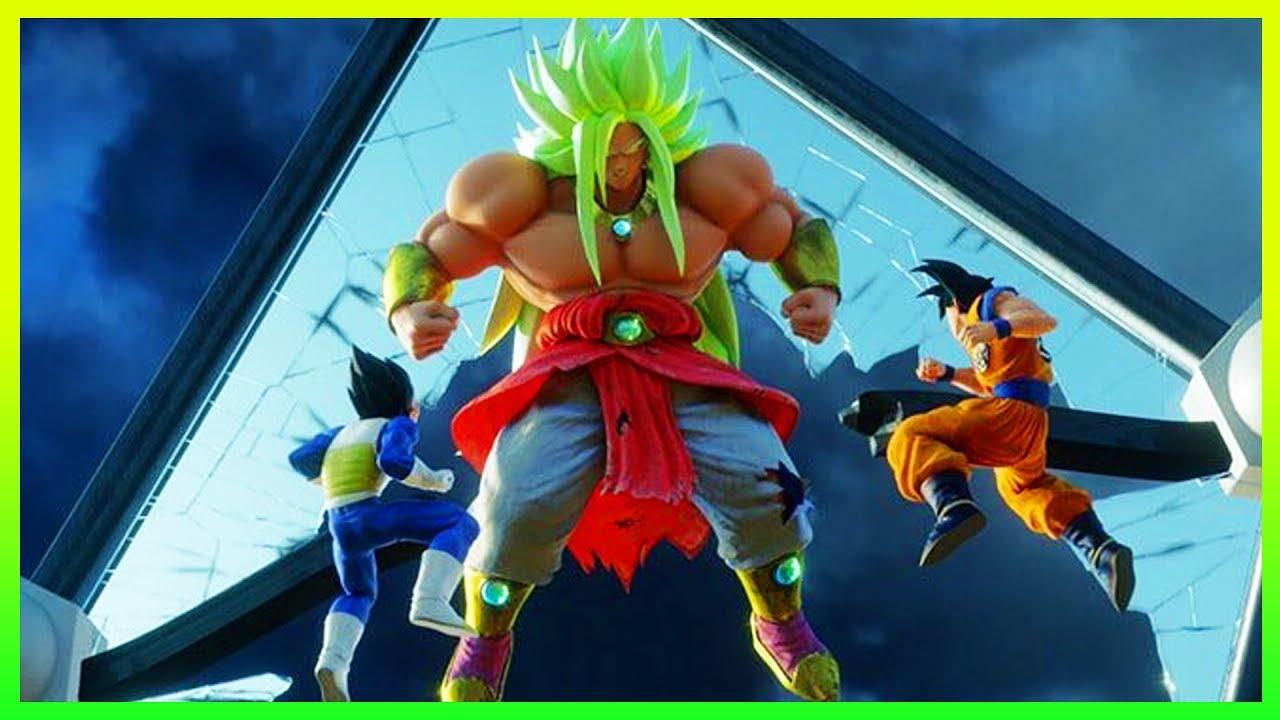 New God Broly Movie Images Revealed Super Saiyan Blue Goku Vs Broly