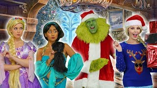WILL DISNEY PRINCESSES ESCAPE THE GRINCH? (Babysitter or Will He Steal Christmas?)