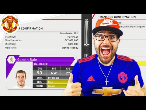 GARETH BALE  ACCEPTED! MANCHESTER UNITED FIFA 17 Career Mode #03