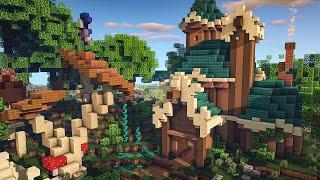 Building a Fantasy Fairy Biome in Minecraft 1 16 Fairy Village YouTube