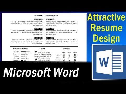 How to make an attractive single page resume in MS Word - Resume - How To Do A Resume On Microsoft Word
