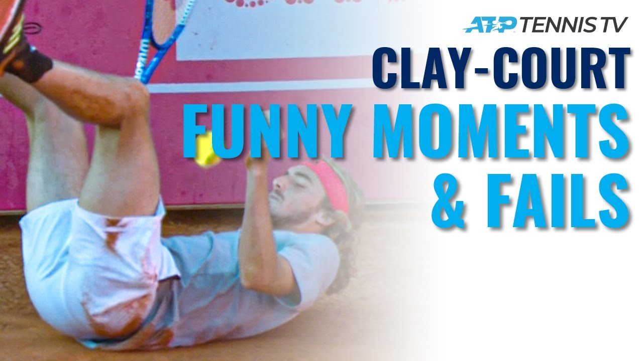 Funny Tennis Clay-Court Moments & Fails 😂