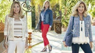 Ropa de Moda para Señoras | Tendencias Primavera Verano 2018 | OUTFITS Elegantes Mujer 50, 60 años