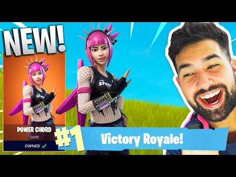 "NEW LEGENDARY ""POWER CHORD"" GAMEPLAY in Fortnite: Battle Royale"