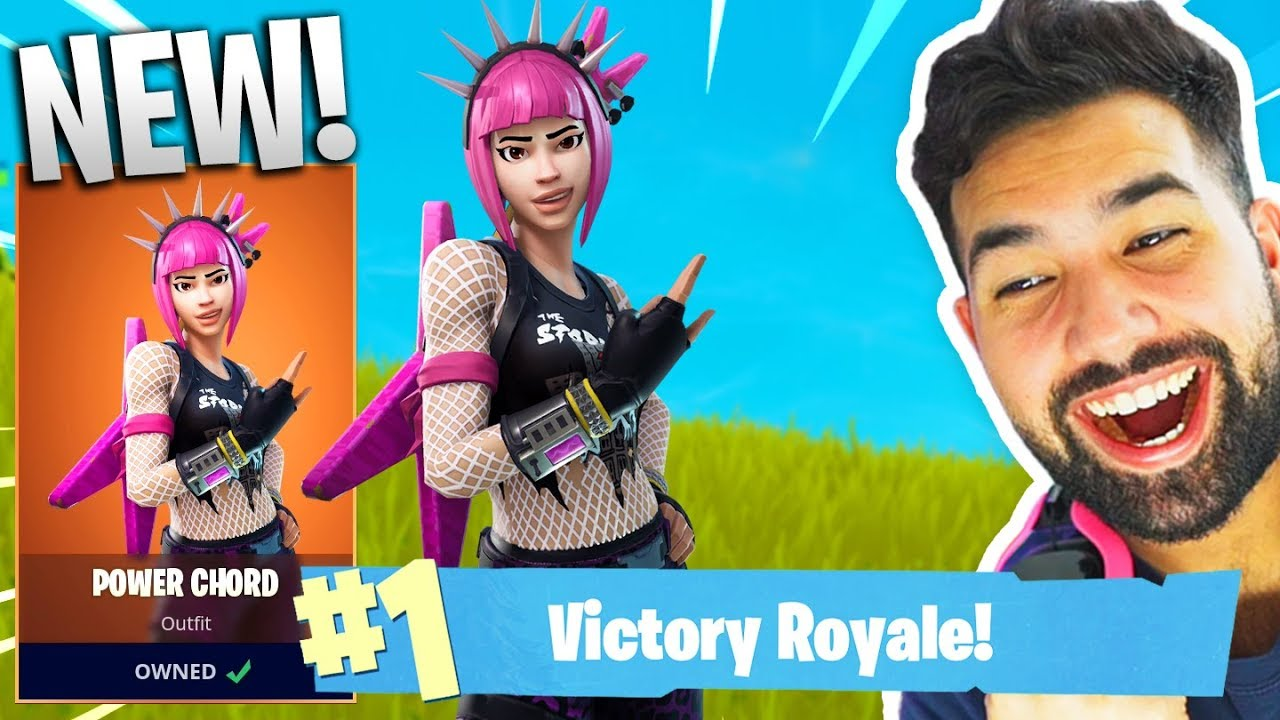 NEW LEGENDARY  POWER CHORD  GAMEPLAY in Fortnite  Battle Royale     NEW LEGENDARY  POWER CHORD  GAMEPLAY in Fortnite  Battle Royale