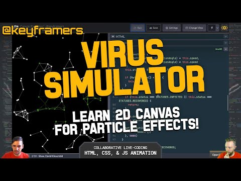 Virus Simulator! 🦠 | Learn 2D Canvas Particle Effects | @keyframers 2.36.0