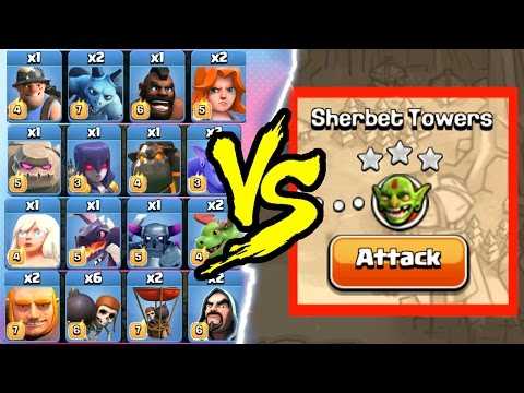 EVERY SINGLE TROOP vs SINGLE PLAYER MAPS! - Clash Of Clans EPIC CHALLENGE 2016!
