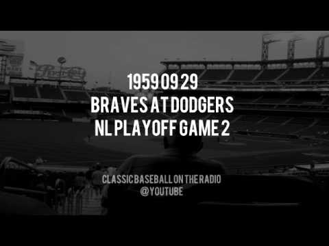 1959 09 29 Braves at Dodgers NL Playoff Game 2 Radio Broadcast
