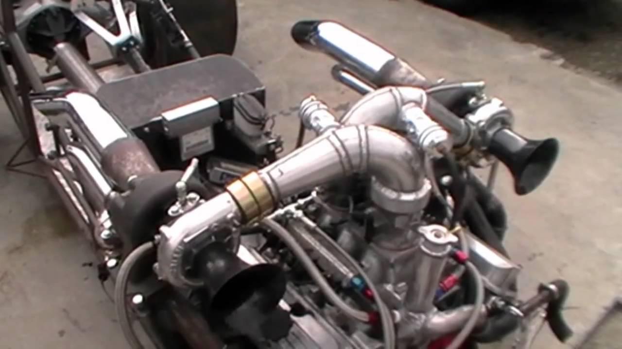 v6 twin turbo buick altered drag car