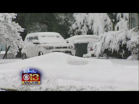 First Snow Of The Season Covers Maryland