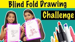 BLINDFOLD DRAWING CHALLENGE Ft. Tahura | MAHJABEEN ALI