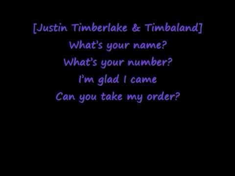 Timbaland Ft. Justin Timberlake - Carry out (Lyrics)