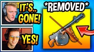 "Streamers React To ""DRUM GUN"" *REMOVED* FOREVER In Fortnite! (RIP) Fortnite Moments"