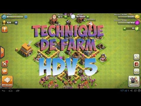 [Clash of clans] Technique de farm pour hdv 5