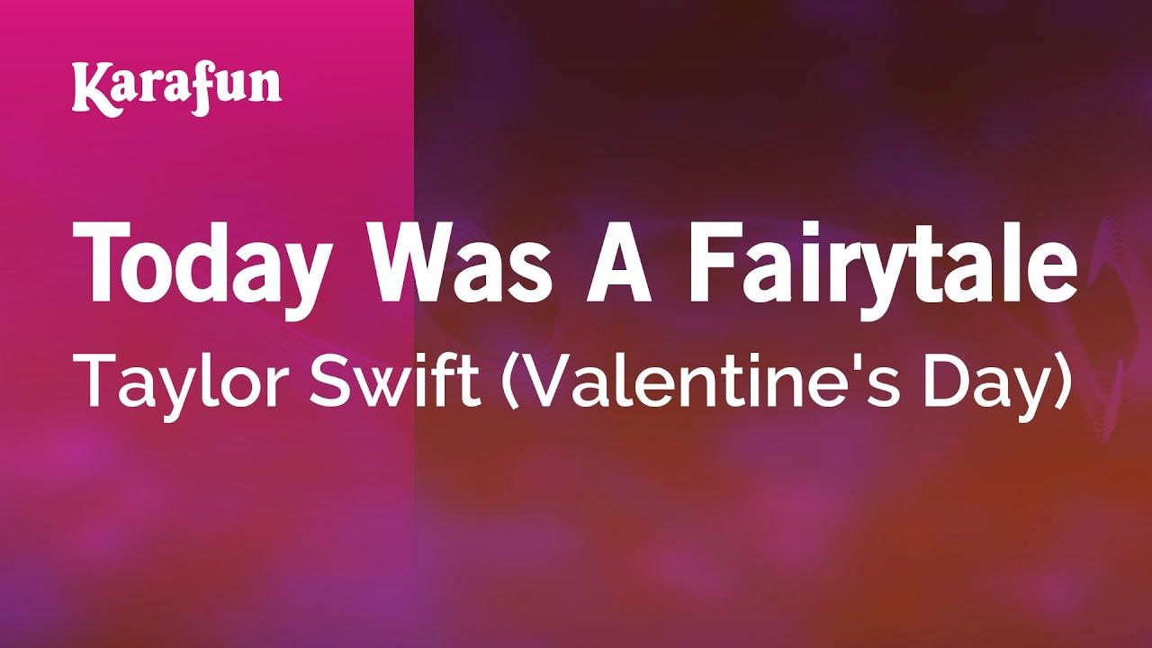 Karaoke Today Was A Fairytale - Taylor Swift * - YouTube