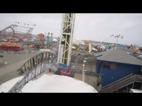 Mighty Mouse front seat on-ride HD POV Funtown Pier Seaside Heights New Jersey Shore