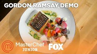 Download Gordon Ramsay's Pan Roasted Sea Bass With Cauliflower Puree   Season 5   MASTERCHEF JUNIOR Mp3 and Videos
