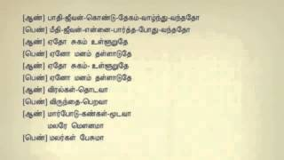 Malare Mounama Mounama Tamil Karaoke Tamil Lyrics YouTube