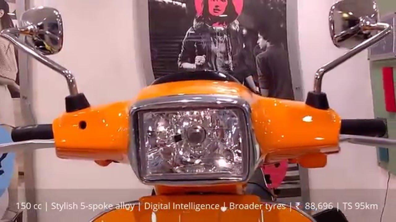 Vespa Sxl 150 Orange Black Alloys Design Specifications